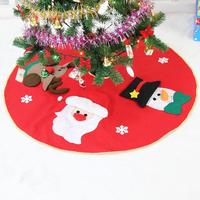 100cm Red Christmas Tree Skirt Embroidered Non Woven Christmas Tree Skirt Xmas Trees Ornaments Christmas Decorations