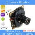 HD 720 P 1.0 Megapixel Câmera IP atualização HI3518E + OV9732 1080 P Lente Filtro de Corte IR PoE Cabo de Segurança câmera