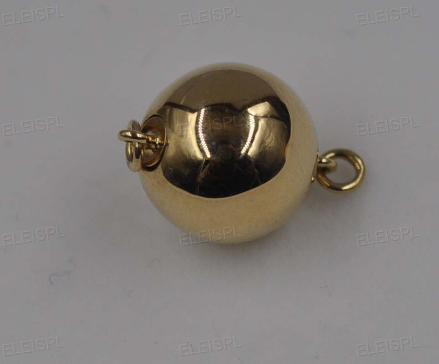 11.5mm rond 14 k or jaune fermoir inséré bar boutons style - 6