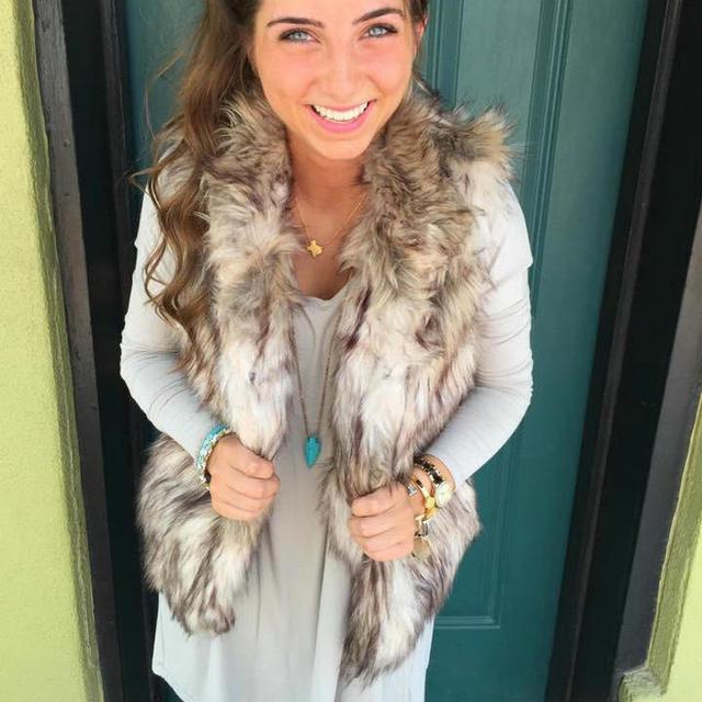 2016 New Winter Women Faux fur Vests Lady Sleeveless High Collar Waistcoat Jacket Warm Outerwear