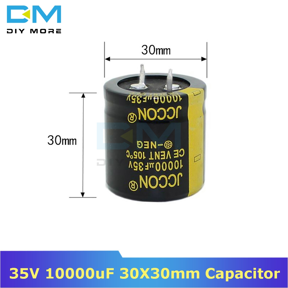 35V 10000uF 30X30mm 30X30 Aluminum Electrolytic Capacitor High Frequency Low Impedance Through Hole Capacitor 30*30mm Diymore