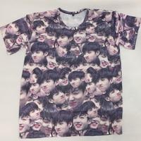 Kpop BTS Bangtan Boys JUNGKOOK The Same Magic Expression Pack Summer Couple Short Sleeve Tshirt
