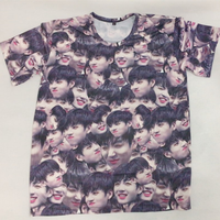Kpop BTS Bangtan Boys JUNGKOOK The Same Magic Expression Pack Summer Couple Short Sleeve Tshirt