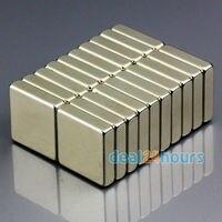 OMO Magnetics 20pcs/lot N50 Bulk Super Strong Block Magnets Rare Earth Neodymium 20 x 20 x 5 mm