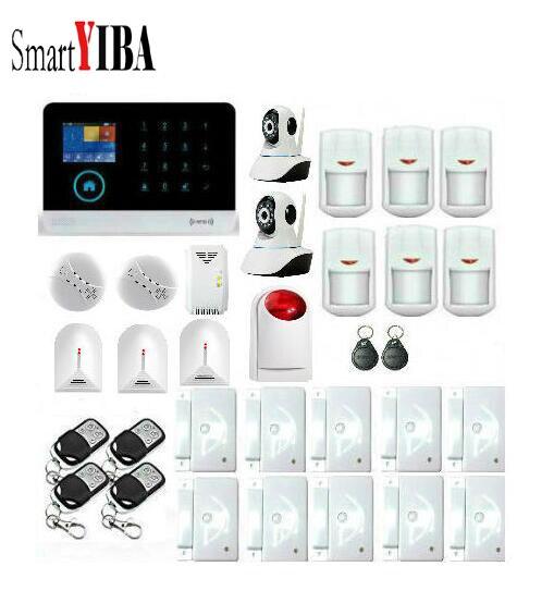 SmartYIBA Wireless Home Security WIFI 3G font b Alarm b font APP Control Network IP Camera
