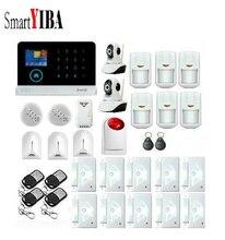 SmartYIBA Wireless Home Security WIFI 3G Alarm APP Control Network IP Camera Wireless Alarm With Strobe Siren Glass Gas Alarm