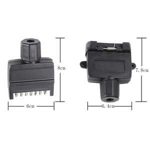 Image 2 - 12 V accesorios para el coche 7 Pin enchufe de remolque plano 7 way core pole camión g adaptador de remolque conector eléctrico conector
