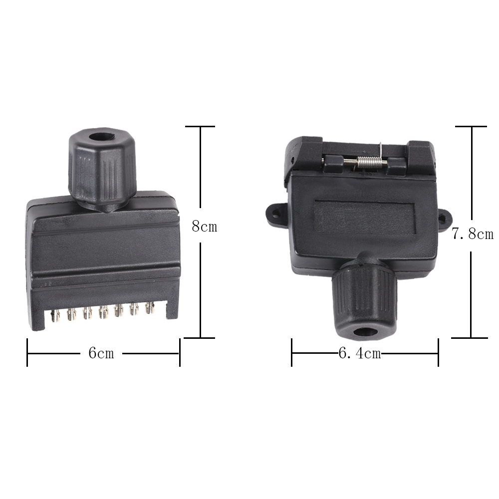 Image 2 - 12V Car Accessories 7 Pin Flat Trailer Socket  plug 7 way  core pole  truck  g adapter Towing Electrics Connector  Connector-in Cables, Adapters & Sockets from Automobiles & Motorcycles