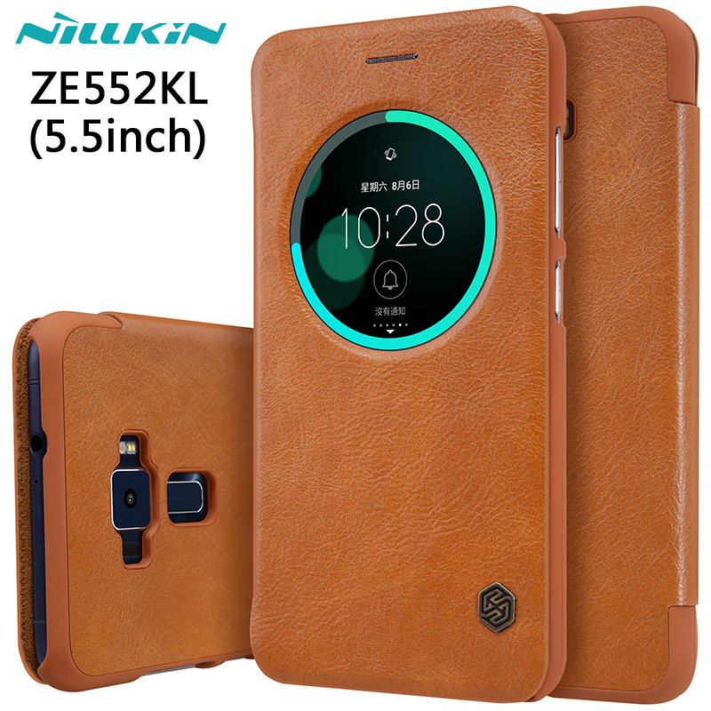 NILLKIN Для Asus Zenfone 3 Ze552kl Case 5.5 ''Hight Качество кожа Smart Case Для Asus Zenfone 3 Ze552kl Функция Сна крышка
