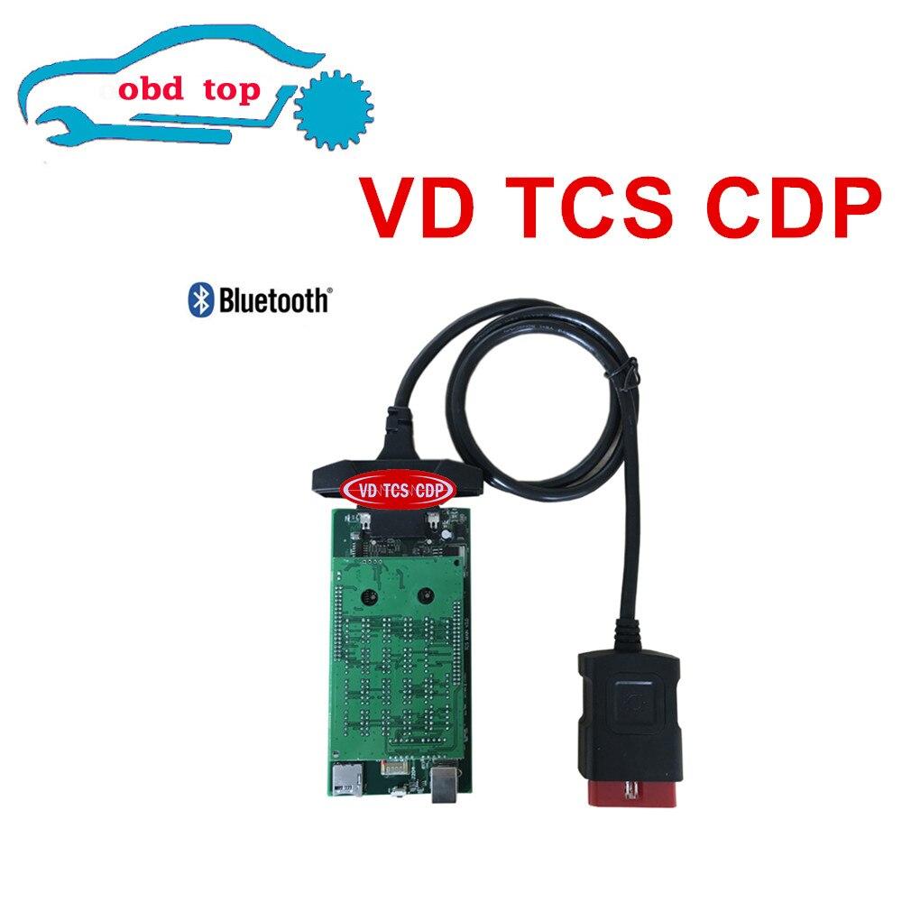 Prix pour Les Mieux Notés VD TCS CDP PRO Avec Bluetooth 2014. R2/2015R3 Logiciel Auto OBD2 Outil D'analyse De Diagnostic CDP pour Voiture Camion