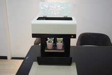 Factory offer Selfie 3D cappiccino  Latte art coffee printer Small cake Food printer price
