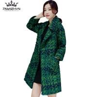 tnlnzhyn 2018 Autumn Winter Women Wool coat and jackets Casual loose pockets women Wool coat Medium Long Woolen Outerwear Y291