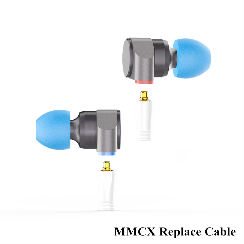 TIN Audio T2 Double Dynamic Hifi In Ear Earphone Stereo Bass DJ Metal Headset MMCX Detachable Silver Plated Cable Earbuds 3.5mm vjjb n1 in ear earphone double dynamic diy hifi bass auriculares with mic cable audio cable for phone tablet computer