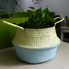 Buy  r Straw Seagrass Belly Handmade Handle Bag  online