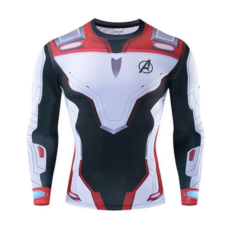 Новинка 2019 года, футболки с 3D принтом «Мстители 4 эндгейм Квантовая война», обтягивающая мужская кофта, костюм для косплея, топы для мужчин, одежда для фитнеса