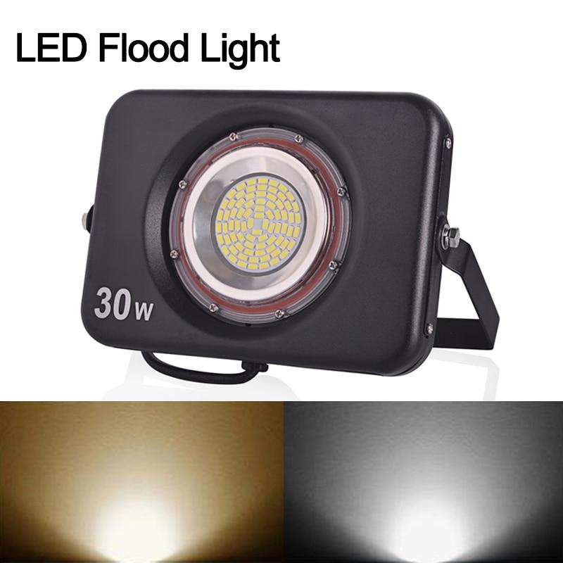 Reflector LED ultrafino 220V 240V Luz de inundación LED 10W 20W 30W - Iluminación exterior - foto 6