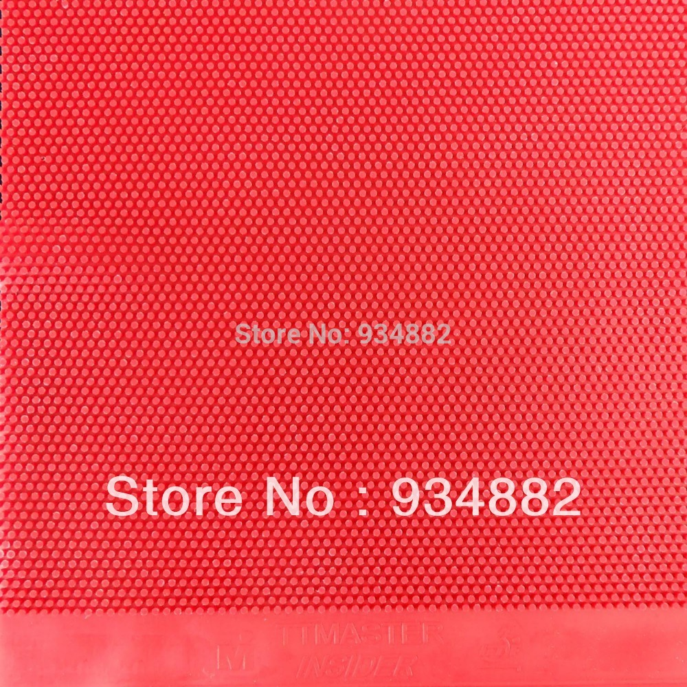 TTmaster Insider Red Long Pips-Out Table Tennis PingPong Rubber Without Sponge NO ITTF