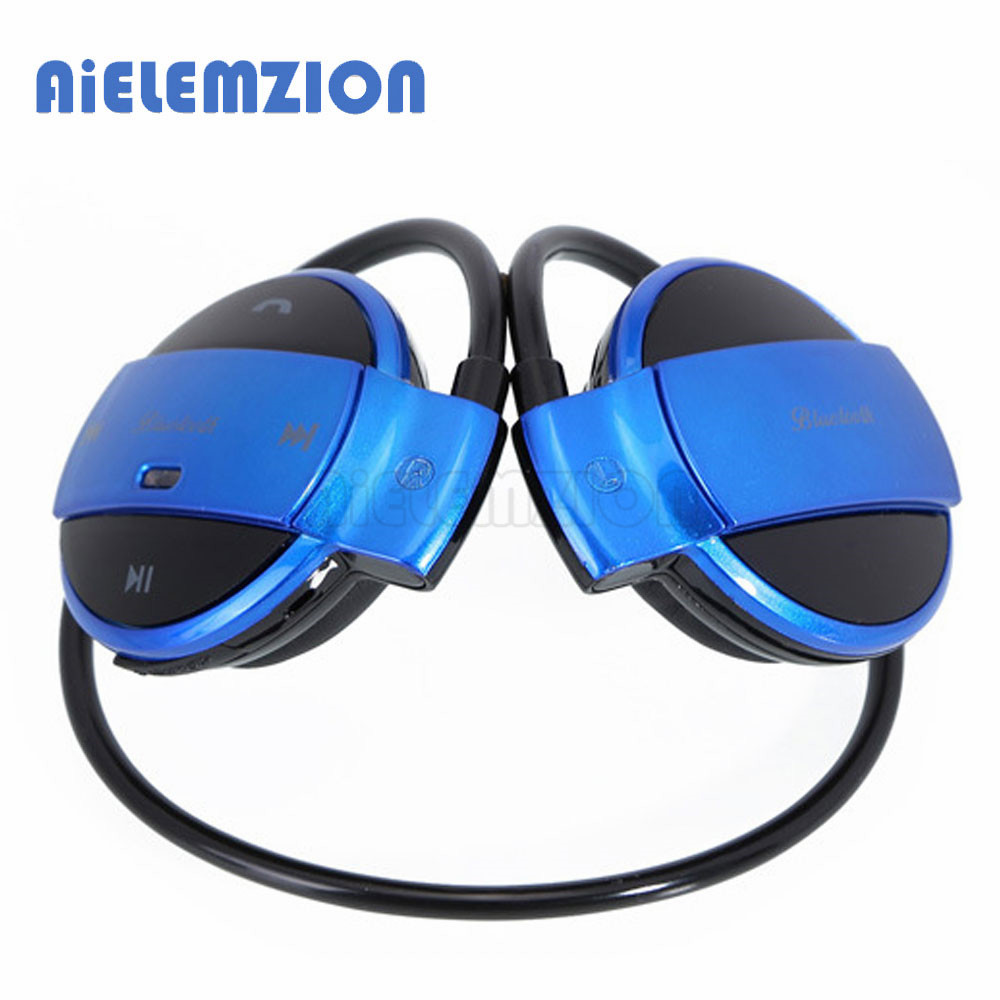 AiELEMZION Wireless Bluetooth V4.1 Sports Neckband Earphones Handsfree Stereo Headphones with Microphone Support TF Card FM