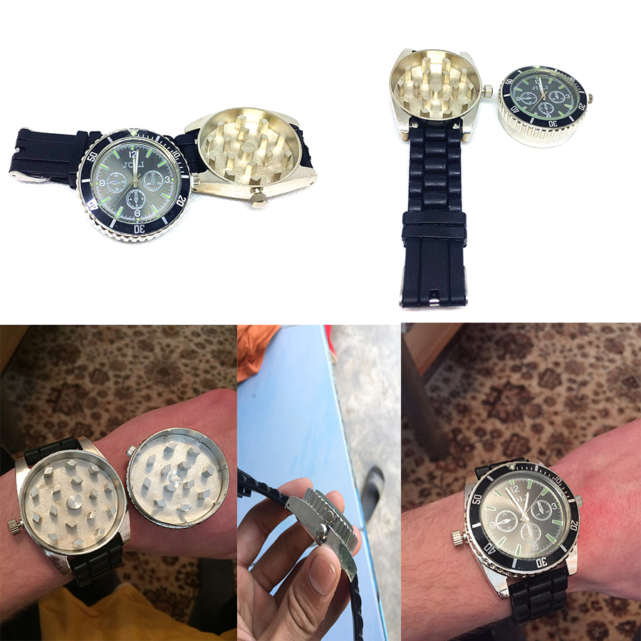 Wristwatch Grinder (watch Can Work) Herb Grinder Tobacco Smoke Crusher Smoking Accessories Hot Sale(China)