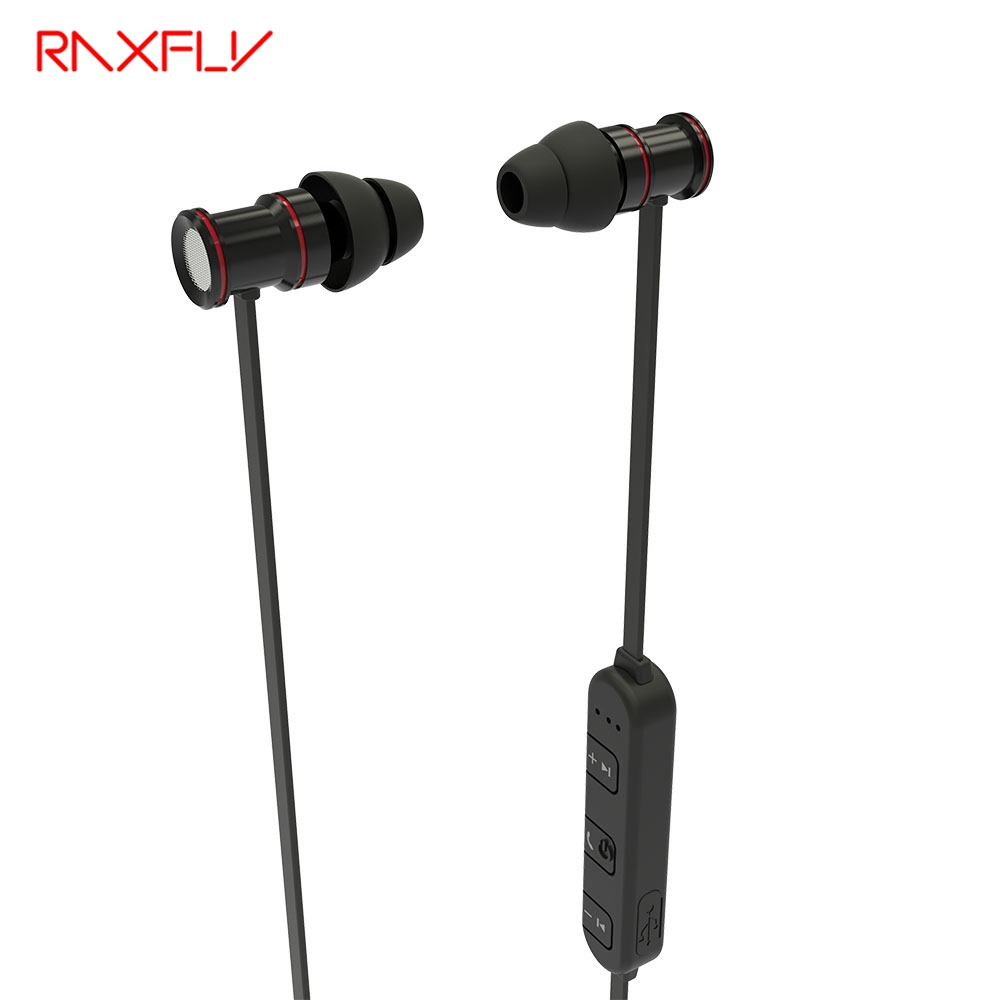 RAXFLY Bluetooth Stereo Music Earphone Magnetic Earpiece With Mic In Ear Headset Wireless Earphones For iPhone Android iOS wireless headphones v4 1 bluetooth earphone stealth sports headset ear hook earpiece with mic for iphone 7 7s samsung xiaomi