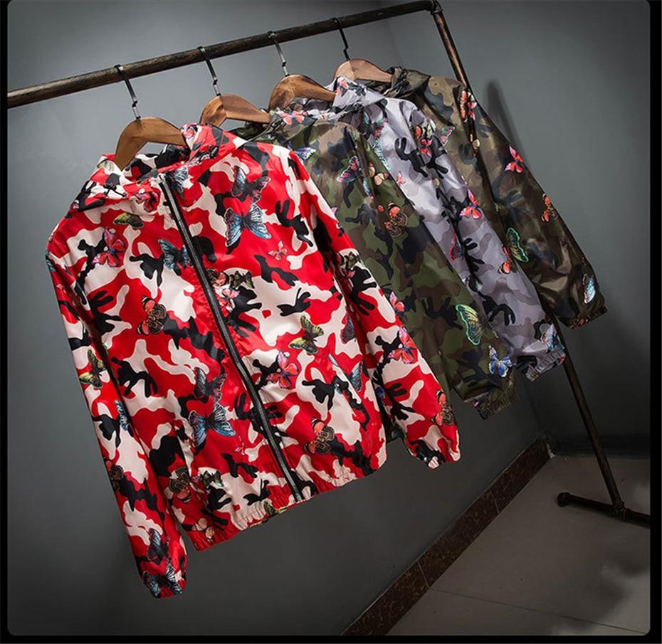 HTB1vXEOwFkoBKNjSZFEq6zrEVXaM Mens Casual Camouflage Hoodie Jacket 2018 New Autumn Butterfly Print Clothes Men's Hooded Windbreaker Coat Male Outwear WS505