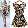 Women Vestido Animal Print Leopard Casual Vestido Oncinha Leopardo Dress Plus Size 2017 Summer Style Dresses Women Clothing F925
