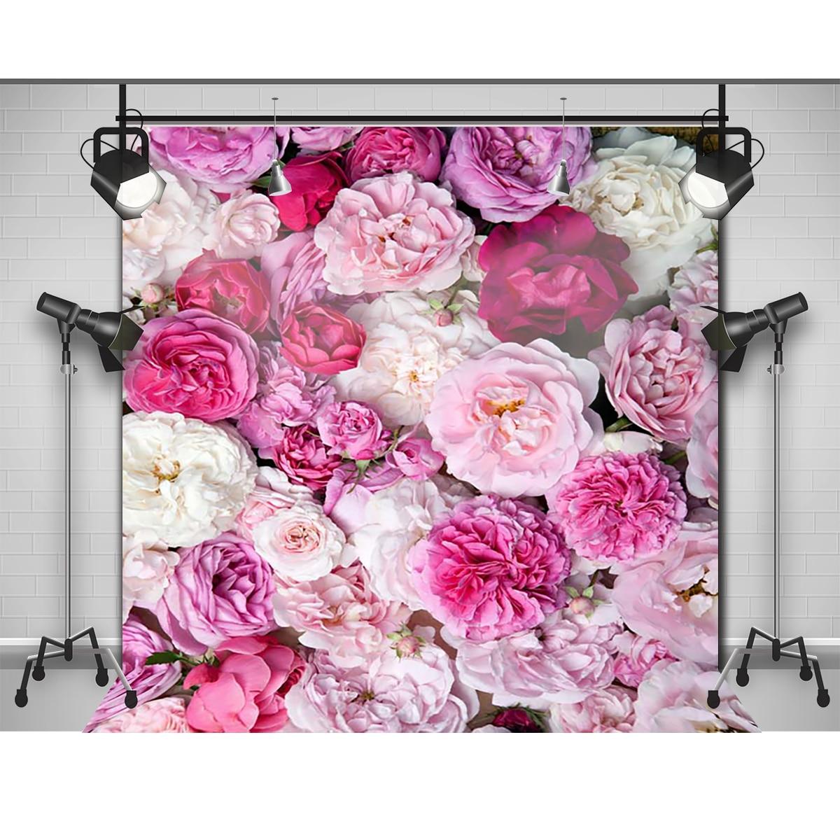 Allenjoy Photographic Background Pink Flowers Red Peony Newborn