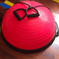 Media pelota de yoga equilibrio corporal medias pelotas de fitness para ejercicio y gimnasio pelota de masaje deportivo a prueba de pelota de Fitball