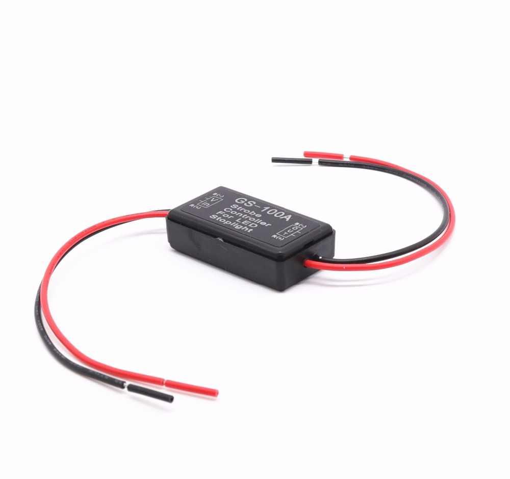 10 шт. GS-100A Автомобильный контроллер вспышки блок модулей для светодиодный стоп-сигнал автомобиля Стайлинг 12-24 в водонепроницаемый короткого замыкания