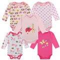 100% Do Bebê Do Algodão Bodysuit uma peças de Outono Corpo de Algodão Recém-nascidos Do Bebê Roupa Interior de Manga Comprida Próxima Infantil Menino Menina Pijamas Roupas