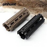 Ohhunt Tactical Two Piece 6 75 Length Drop In Quad Rail AR15 M16 Carbine Keymod Handguard