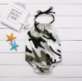 Newborn Baby Boy Girl Camouflage Halter Bodysuit Jumpsuit Clothing Infant Babies Summer Outfit Summer Sunsuit Clothes