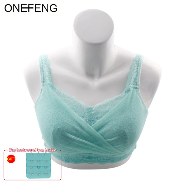 ONEFENG 6049 Silicone Breast Bra Cancer Surgery Special Breast Bra Underwear Without Rims Fake Breast Lace Tube Top