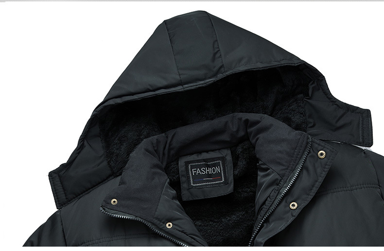 Image 5 - Mwxsd ブランド冬のメンズ厚く暖かいパーカージャケットとコート男性厚いパッド入り毛皮のコートの男性スタンド襟オーバーコート    グループ上の メンズ服 からの パーカー の中