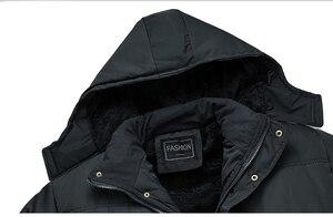 Image 5 - Mwxsd 브랜드 겨울 남성 두꺼운 따뜻한 파카 재킷과 코트 남자 두꺼운 패딩 모피 코트 남성 스탠드 칼라 오버 코트