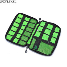 купить JPZYLFKZL Waterproof Double Layer cable organizer bag Electronic SD card USB Earphone Case Digital Travel Accessories Organizer по цене 434.27 рублей