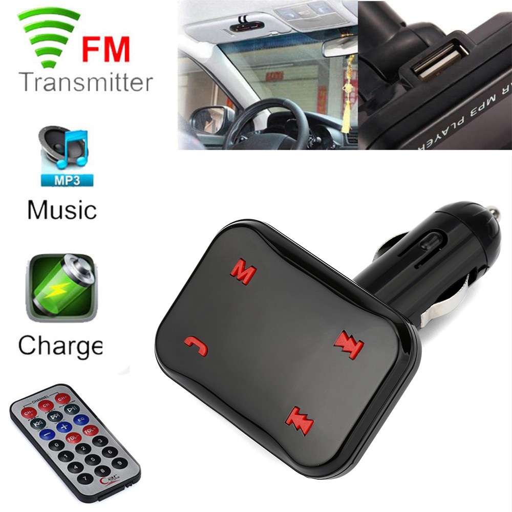 High Quality BT X6 Wireless Hands Free USB Charge LED MP3 Bluetooth Car FM Transmitter With MIC