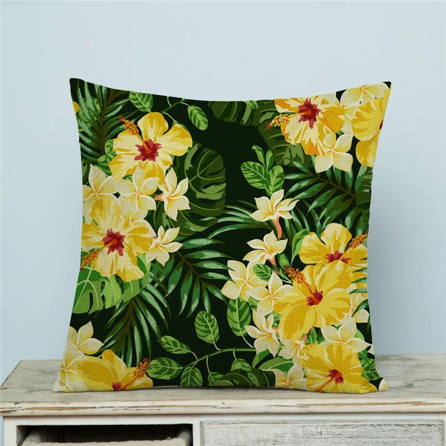 Ev Dekoralı Naxışlı Divan Atılan yastıq örtüyü Floral Capa - Ev tekstil - Fotoqrafiya 2