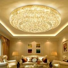 European Living room crystal round  lamp LED ceiling Lights restaurant light bedroom lamp modern minimalist lighting fixtures стоимость