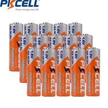 12 pièces PKCELL ni zn 2500mWh batterie 1.6V AA Batteries rechargeables pour appareil photo numérique, CD, machine de jeu, jouet