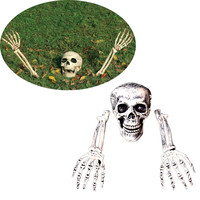 뜨거운 판매 3 개 할로윈 공포 묻혀 살아 해골 해골 정원 마당 잔디 장식 할로윈 장식