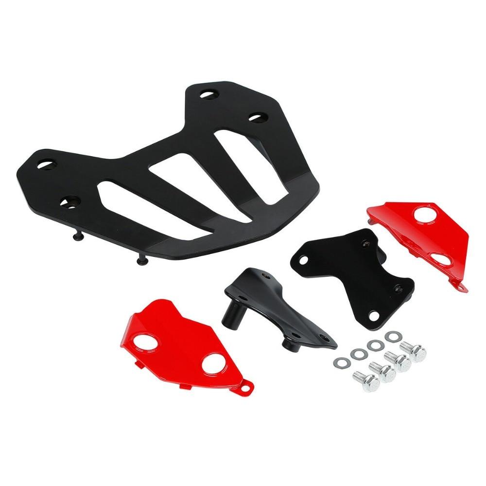 Motorcycle Black Rear Carrier With Rack Mount Bracket kit For Honda GL1800 Goldwing F6B 2013 2014