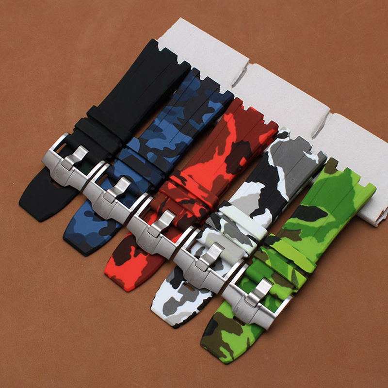 TJP Hot Colorful Camouflage Sports AP Silicone Straps Rubber Watchband 28mm men s Bracelet For AP