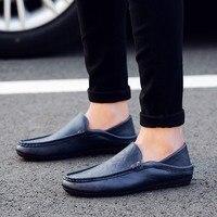 2019 new style fashion men shoes casual shoes PU leather soft light antiskid shoe sneaker running sport shoe slip on walking