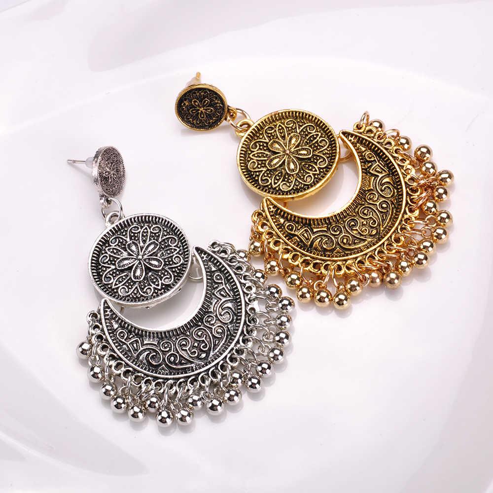3777f2efb9 Detail Feedback Questions about Turkish Tassel Drop Earrings Moon ...