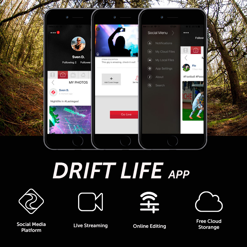 Drift Ghost 4K+ Plus Action Sports Camera Motorcycle Bicycle Bike Mount Helmet Cam with WiFi 4K HD Resolution External Mic 5