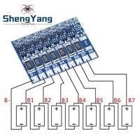 7S 29.4V 4.2V scheda di protezione della funzione di bilanciamento 66mA 7S batteria agli ioni di litio Lipo batterie al litio 18650 modulo bilanciato PCB BMS