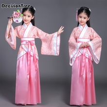 цена на 2019 new children chinese traditional hanfu dress girls clid kids ancient chinese hanfu dress costume girls tang clothing