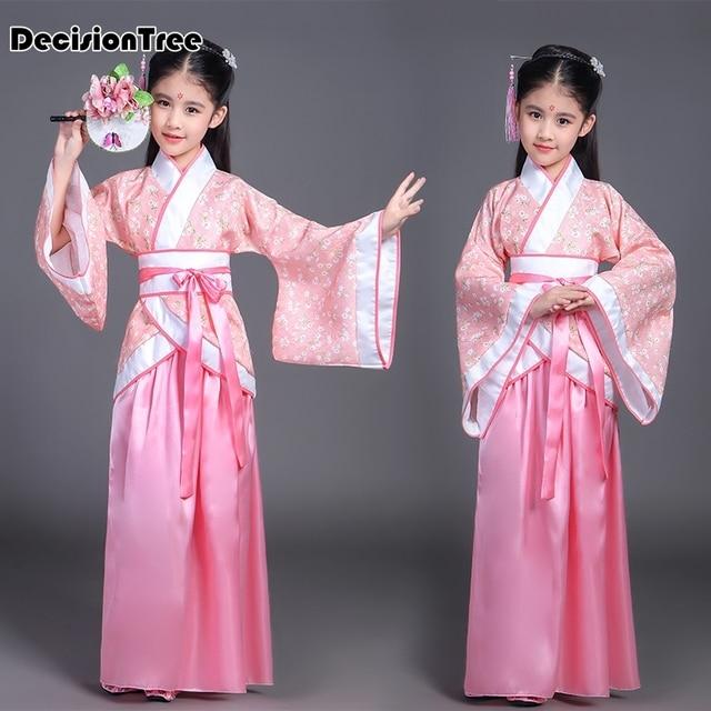 2019 new children chinese traditional hanfu dress girls clid kids ancient chinese hanfu dress costume girls tang clothing