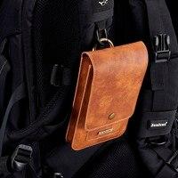 6.5インチユニバーサル本革ウエストベルトクリップフックループケースカバーバッグ用マルチスマート電話スマートフォンモデ